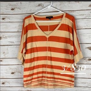 Sanctuary small striped sweater short sleeves